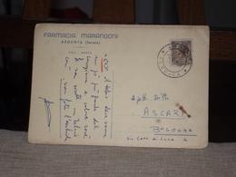 CARTOLINA FARMACIA MARANGONI ARGENTA FERRARA - Pubblicitari