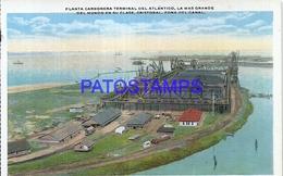 94736 PANAMA ZONA DEL CANAL CRISTOBAL PLANTA CARBONERA TERMINAL DEL ATLANTICO RAILROAD POSTAL POSTCARD - Panama