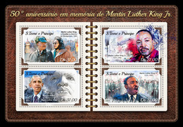 S. TOME & PRINCIPE 2018 - Martin Luther King. Official Issue - Martin Luther King