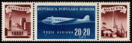 ROM SC #CB16 + 2 LBLS MNH 1948 Douglas DC-3 Dakota CV $10.00 - Unused Stamps