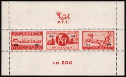 ROM SC #B243 MH SS 1944 Communications Employees W/ovprt CV $17.50 (if NH) - 1918-1948 Ferdinand I., Charles II & Michel