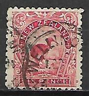 NOUVELLE  ZELANDE   -  1899.  Y&T N° 86 Oblitéré.   Oiseau  /  Kiwi - 1855-1907 Crown Colony