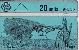 TARJETA TELEFONICA DE ARUBA. 312B, ARBOL, DIVI DIVI TREE (004) - Aruba