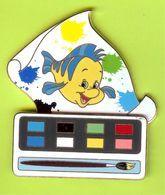 Gros Pin's BD Disney Polochon Peinture (La Petite Sirène) Double Moule - #118 - Disney