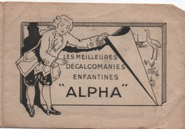 Petit Carnet Publicitaire De Décalcomanies/ALPHA/Au Bon Accueil/Marie BRINKHUIZEN/BRUAY En ESCAUT/Nord/Vers1930    JE218 - Other Collections