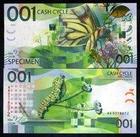 001 Cash Cycle KBA-GIORI, Test Note / Specimen - Butterfly - Billets