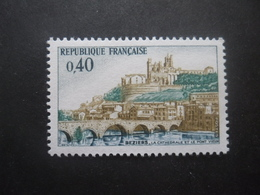 France N°1567 CATHEDRALE De BEZIERS Neuf ** - Eglises Et Cathédrales