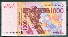 BCEAO - 1000 Francs CFA - 2003 - Lettre D (Mali) - (Etat Neuf-UNC) - West African States