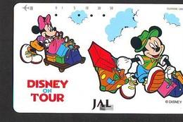 Télécarte  * DISNEY * Japon (110-158522) DISNEY ON TOUR  * JAL (6382) * JAPAN PHONECARD * - Disney