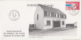 Carte   FRANCE   Inauguration  Bureau  De   Poste   De   SORMERY   (89)    1981 - Correo Postal