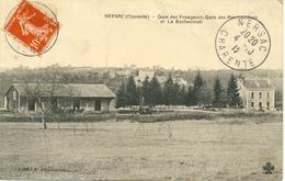 Nersac-Gare Des Voyageurs.Gare Des Marchandises.(un Pli De Bas En Haut à Gauche (vente Dans L'état ) - Autres Communes