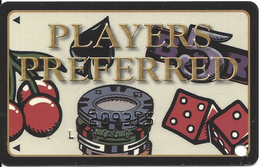 Players Island Casino - Lake Charles LA - 2nd Issue Slot Card - Casino Cards