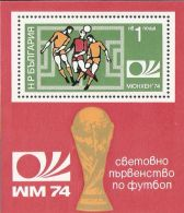 Bulgaria 1974 Mi# Block 47 A ** MNH - World Soccer Championship, Munich - Coppa Del Mondo