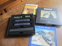 CD92 Atlas, Minitrains, Train Bleu, Neuf En Boite, 1-220 - Model Railways