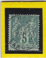 SAGE N° 75 TYPE IIB + CAD  Bureau  De DAX  / LANDES - REF ACDIV - 1876-1898 Sage (Type II)