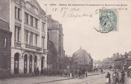 CPA Lens, Maison Des Associations Et Perspective Du Boulevard Des Ecoles (pk47190) - Lens