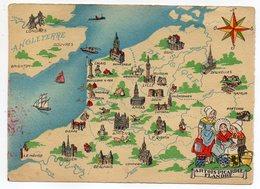 """Illustrateur ??? --datée 1969- Carte Géographique """"Artois-Picardie-Flandre """"-Monuments,cathédrales.... - Cartes Géographiques"""