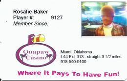 Quapaw Casino - Miami OK - 1st Issue Slot Card - Casino Cards