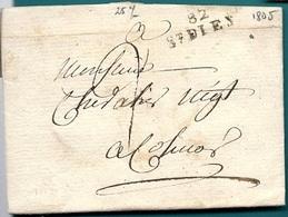Vosges - Saint Dié Pour Colmar. LAC De 1805 - Postmark Collection (Covers)