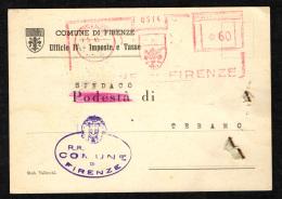 ITALIA REPUBBLICA - EMA - 7.5.45 - COMUNE DI FIRENZE - Marcofilie - EMA (Print Machine)