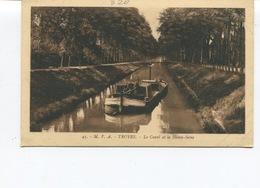 CPSM - TROYES (Aube) - Le Canal Et La Haute-Seine- Dos Vierge - Troyes