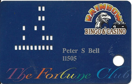 Rainbow Casino - Nekoosa WI - 1st Issue Slot Card - Casino Cards