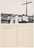 CP BURKINA FASO Nouna .Mgr. Lesourd Bénit Une Nouvelle Croix - Burkina Faso