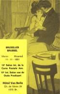 BRUXELLES - 11-11-1981 - 12e Salon Int. De La Carte Postale Anc. - Hôtel Van Belle, Ch. De Mons 39 - 1070 Br. - Feesten En Evenementen