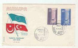 1958 TURKEY FDC EUROPA Stamps Cover - 1921-... Republic