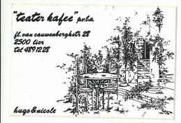 Sticker - Teater Kafee - Fl.van Cauwenberghstraat LIER - 2 Stuks - Autocollants