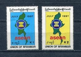MYANMAR BIRMA BURMA 1997 Mi # 338 - 339 ASEAN MNH - Myanmar (Burma 1948-...)