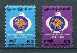 MYANMAR BIRMA BURMA 1999 Mi # 348 - 349 125th Anniversary UPU MNH - Myanmar (Burma 1948-...)