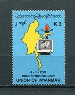 MYANMAR BIRMA BURMA 2001 Mi # 357 The 53th Anniversary Of The Independence MNH - Myanmar (Burma 1948-...)