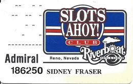 Riverboat Casino - Reno NV - 5th Issue Admiral Slot Card  ...[RSC]... - Casino Cards