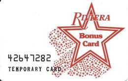 Riviera Casino - Las Vegas NV - Temporary Slot Card  ...[RSC]... - Casino Cards