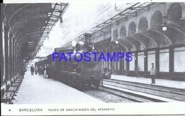 94757 SPAIN ESPAÑA BARCELONA CATALUÑA ESTACION DE TREN STATION TRAIN PASEO DE GRACIA ANDEN POSTAL POSTCARD - Spain
