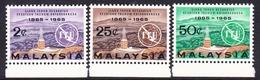 Malaysia SG 12-14 1965 ITU Centenary, Mint Never Hinged - Malaysia (1964-...)