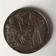 M/7 Médaille CUIVRE 1856 FR 25ème Anniversaire De L'Inauguration Du Roi Léopold I *SUP* - Très RARE !! - 1831-1865: Léopold I