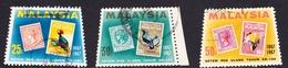 Malaysia SG 48-50 1967 Stamp Centenary, Used - Malaysia (1964-...)