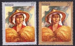 Malaysia SG 59-60 1969 National Rice Day, Mint Never Hinged - Malaysia (1964-...)