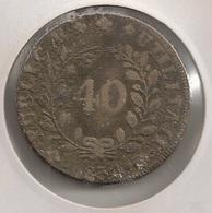 Moeda Portugal 40 Reis 1834 - Pataco - D. Maria II - Bronze - BC - Coin - Valuta - Monnaie - Währung - Portugal