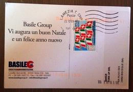 Italia Rep- 2009, Cat. Sass. 3082-Camera Di Commercio Italiana.  Isolato Su Cartolina Da Lamezia A Bisceglie 22.12.09 - 6. 1946-.. Repubblica