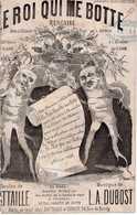 CAF CONC OFFENBACH SARDOU CENSURE PARTITION XIX LE ROI CAROTTE QUI ME BOTTE BATTAILLE DUBOST PERRIN FLAIRE DUHEM 1872 IL - Muziek & Instrumenten