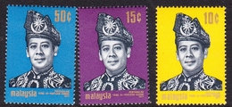 Malaysia SG 77-79  1971 Installation Of Halim Shah, Mint Hinged - Malaysia (1964-...)