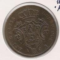 Moeda Portugal 10 Reis 1865 Açores - D. Luis I - Cobre - Copper - MBC +++ - Coin - Valuta - Monnaie - Währung - Portugal
