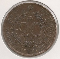 Moeda Portugal 20 Reis 1865 Açores - D. Luis I - Cobre - Copper - MBC + - Coin - Valuta - Monnaie - Währung - Portugal