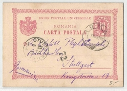 Ganzsache 10 Bani Nach Stuttgart ,BRD 1900 (476377) - Romania