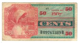 U.S.A.  Military Payment Certificate , Series 661 , 50 Cents. VF. - Military Payment Certificates (1946-1973)