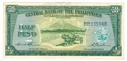 Philippines,  Half Peso (50 Centavos) 1949, P-132. XF. - Philippines