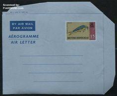 Belize/british Honduras 1971 Aerogramme 15c, Dolphin, (Unused Postal Stationary), Fish - Sea Mammals - Nature - Honduras Británica (...-1970)